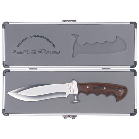 Maxam® Commemorative Military Bowie Knife w Case