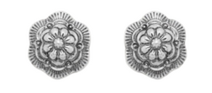 Plainview Flower Concho Earrings