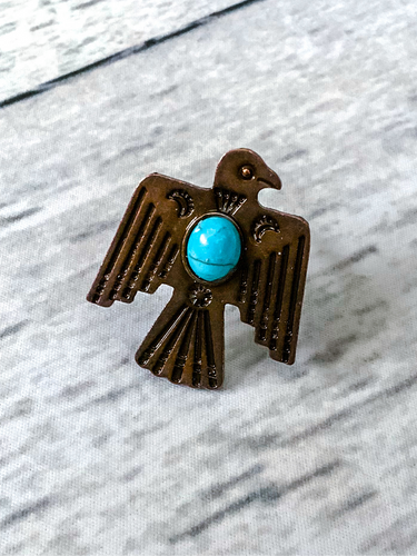 Copper Thunderbird Ring