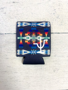 Blue Aztec Can & Bottle Koozie