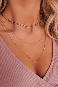 Leah Gold Layered Necklace
