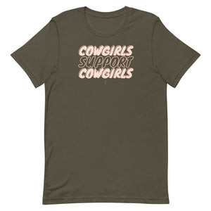 Cowgirls Support Cowgirls Tee