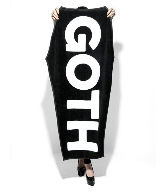 Goth Beach Towel