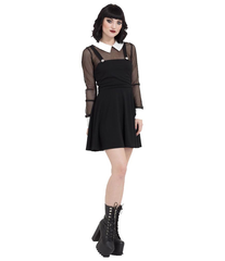 Fishnet Collar Dress