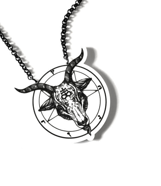 Baphomet Necklace (White)