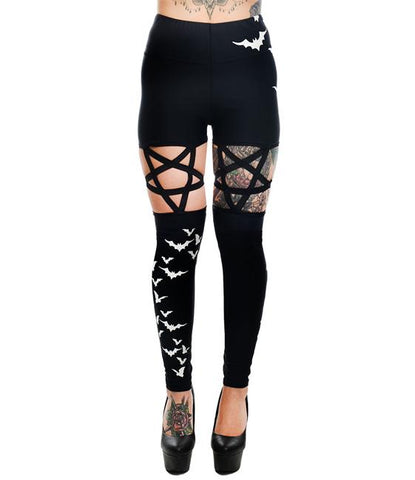 Pentagram Bat Leggings