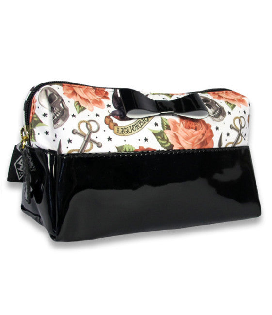 Rose Tattoo Cosmetic Bag