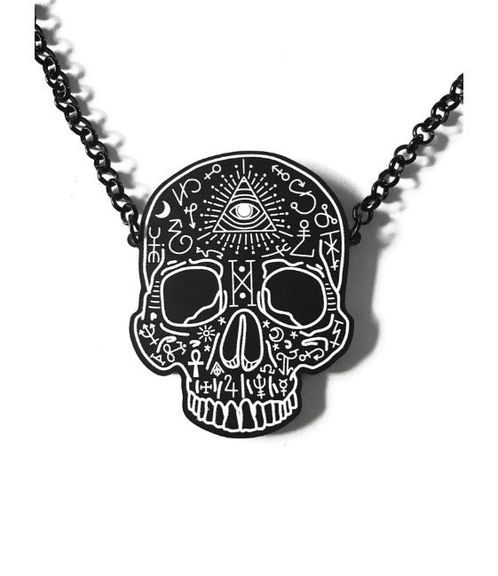 Sorcerer's Skull Necklace (Black)