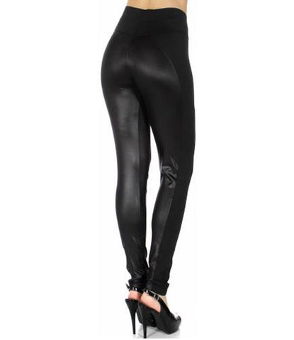 Scuba with Faux Leather Leggings
