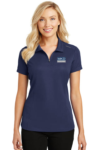Ladies Port Authority® Pinpoint Mesh Zip Polo