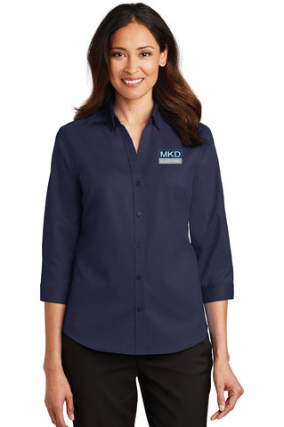 Ladies Port Authority® 3/4-Sleeve SuperPro™ Twill Shirt