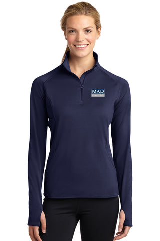 Ladies  Sport-Tek® Sport-Wick® Stretch 1/2-Zip Pullover