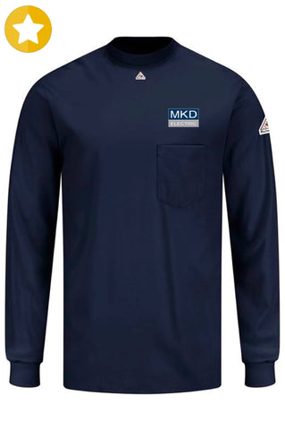 BULWARK FLAME-RESISTANT (FR) COTTON LONG-SLEEVE T-SHIRT (UNIFORM ITEM) ***