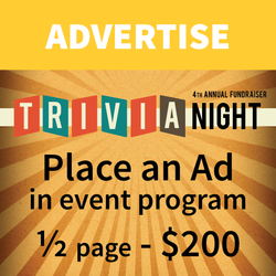 ½ Page Advertisement in Event Program - Trivia Night Fundraiser