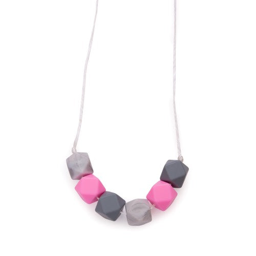 Hexagon Teething / Feeding  Necklaces