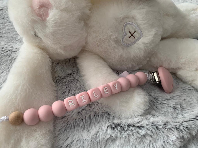 Pastel Personalised Fully Customisible  Dummy Clip