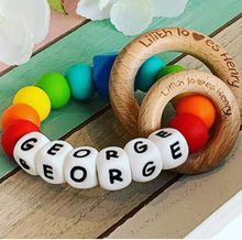 Personalised fully customisable Teething Ring