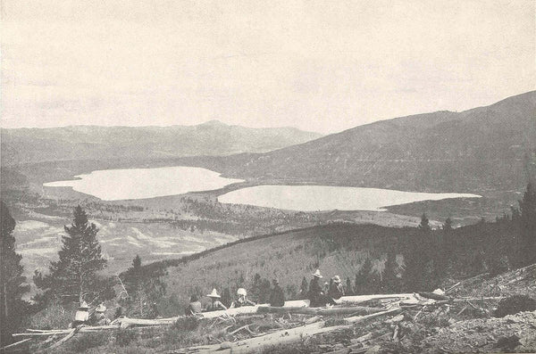 View of Twin Lakes from Mount Elbert - 1907
