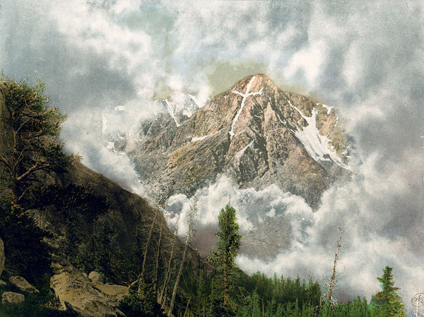 Painting of Mount of the Holy Cross in the Clouds - 1901
