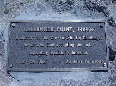 Challenger Point Plaque
