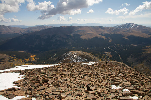View down east ridge of Quandary Peak