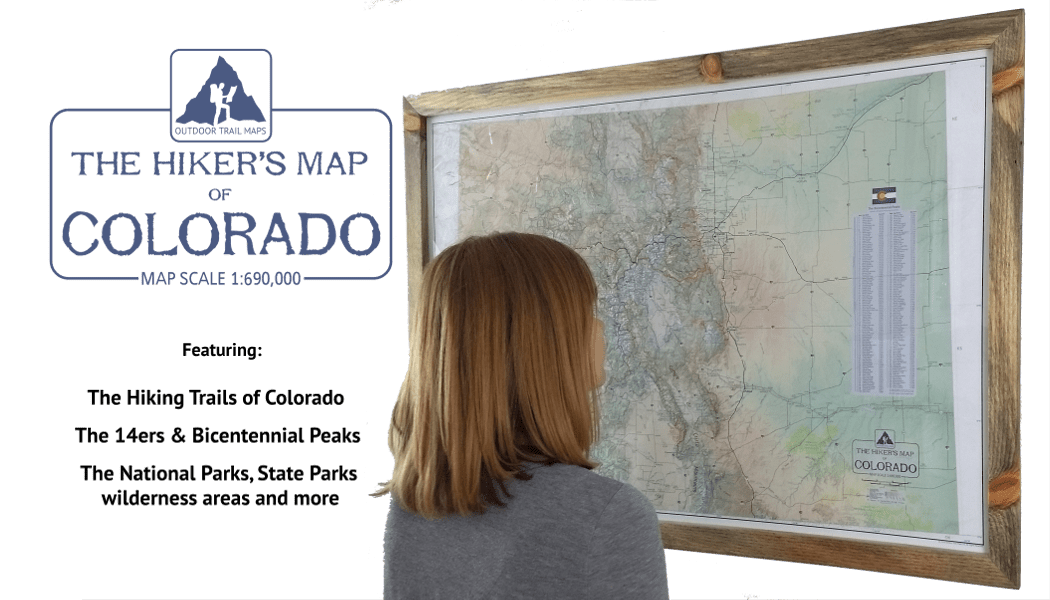 The Hikers Map of Colorado