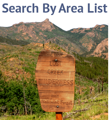 Search Colorado Wilderness Maps by Area List