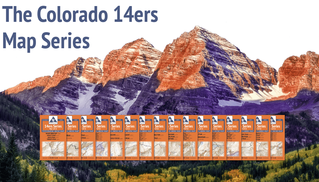 Image of: Colorado Topographic Hiking Maps Outdoor Trail Maps Llc 14ers Maps