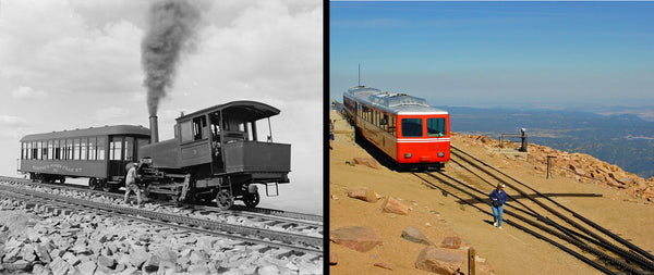 Pikes Peak Cog Railway Then And Now