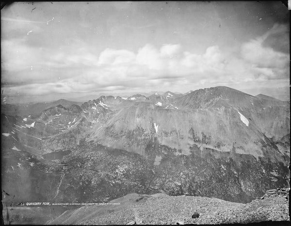Quandary Peak from Summit of Mt Lincoln