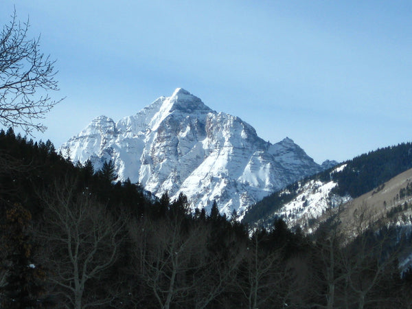 View of Pyramid Peak from Aspen Highlands Ski Area