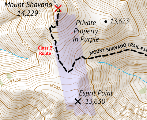 Mount Shavano Private Property