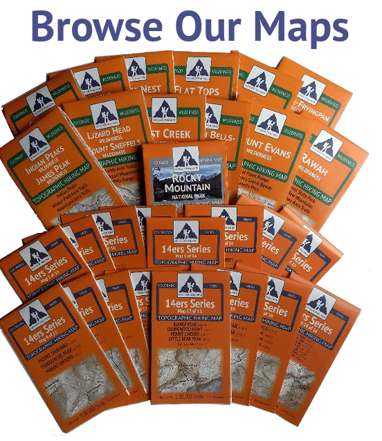 Outdoor Trail Maps Colorado Hiking Maps Catalog