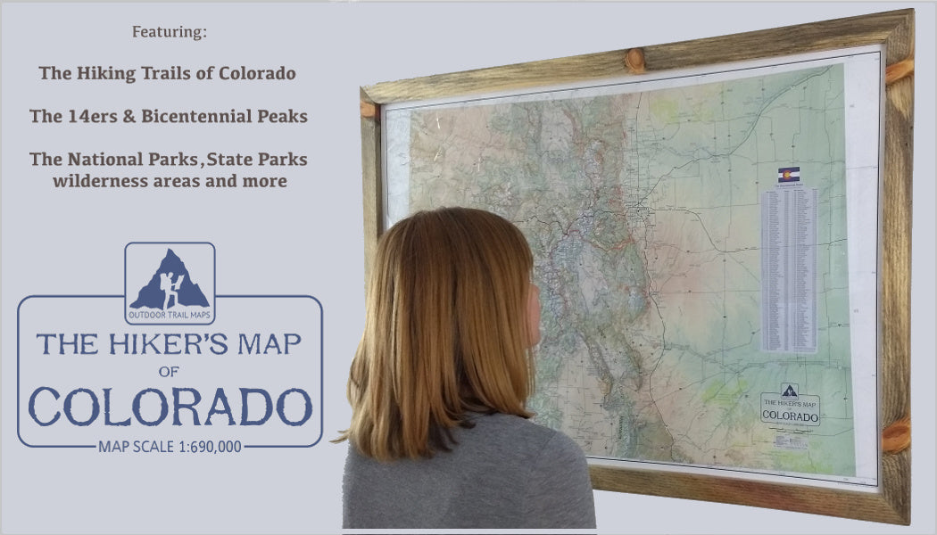 Hiker's Map of Colorado