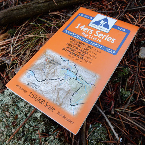 14ers Map 12 of 16: Challenger, Crestone, Crestone Needle, Humboldt, Kit Carson