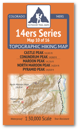 14ers Map 10 of 16 Cover