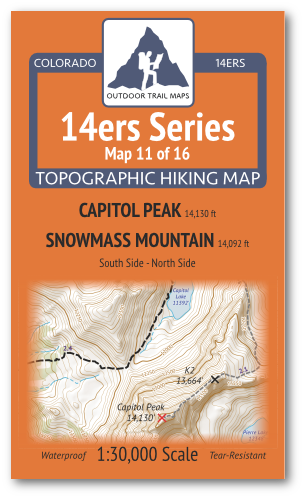 14ers Map 11 of 16 Cover