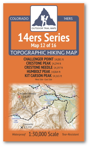 14ers Map 12 of 16 Cover