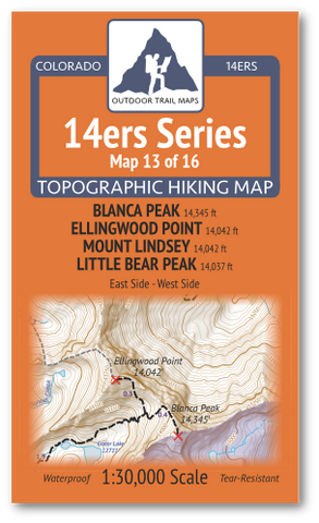 14ers Map 13 of 16 Cover