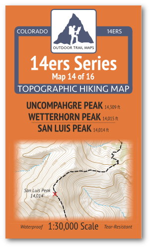 14ers Map 14 of 16 Cover