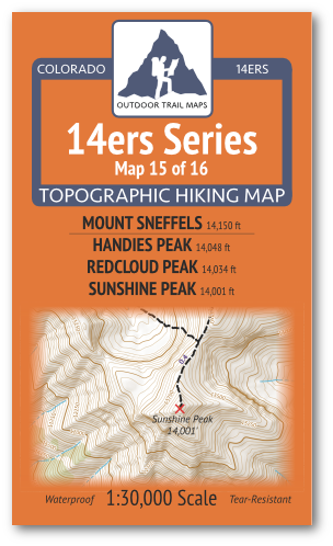 14ers Map 15 of 16 Cover