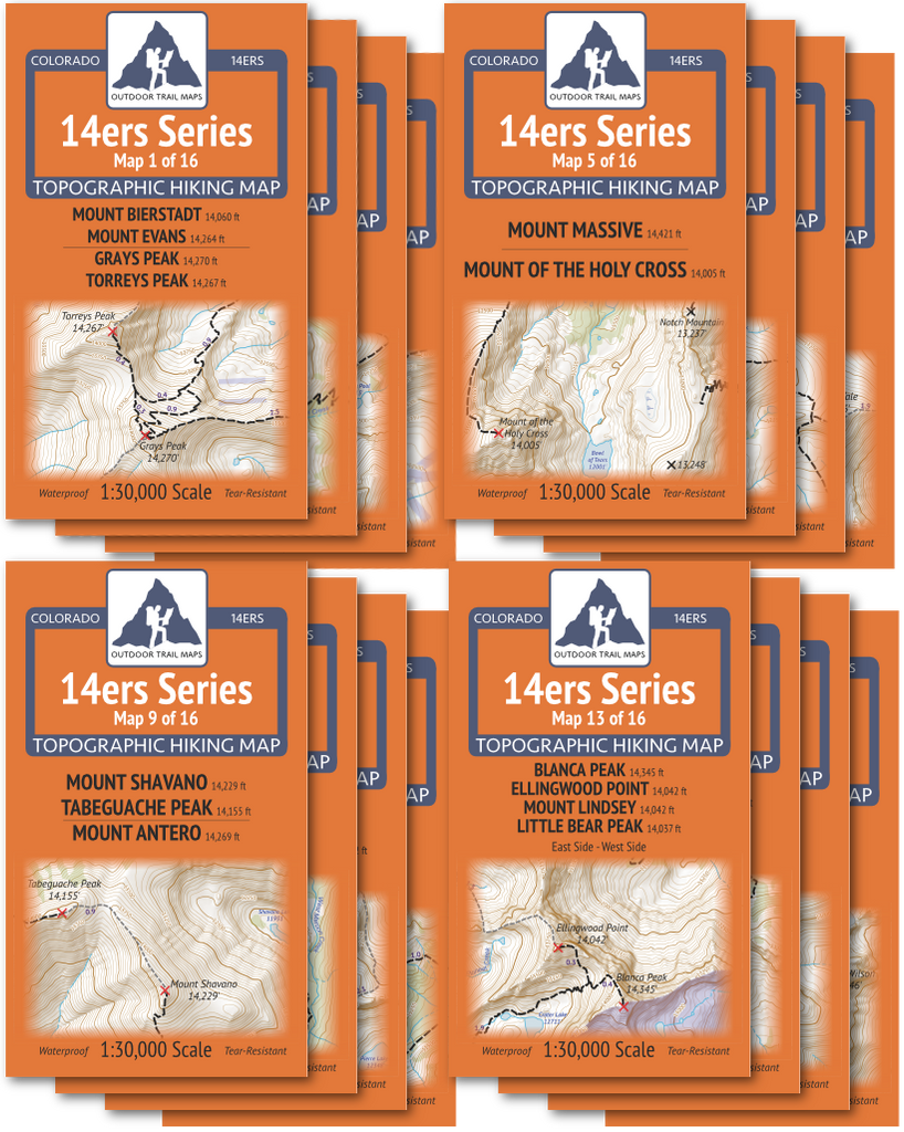 14ers Series Complete Map Pack - All 58 Colorado Fourteeners