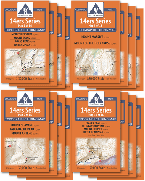 14ers Series Map Packs