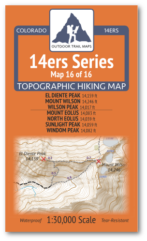 14ers Map 16 of 16 Cover