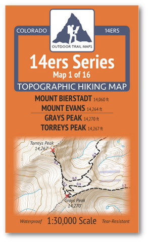 14ers Map 1 of 16 Cover