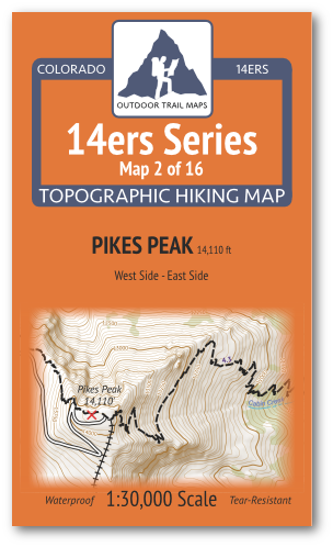 14ers Map 2 of 16 Cover