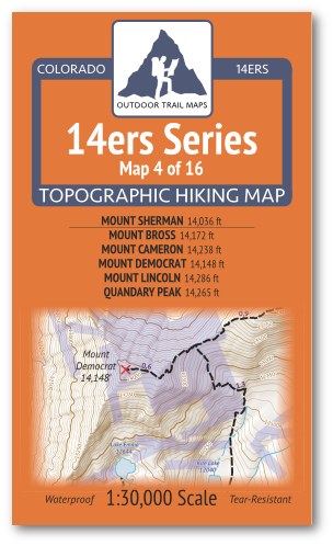 14ers Map 4 of 16 Cover