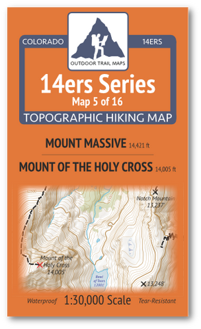 14ers Map 5 of 16 Cover