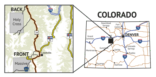 14ers Map 5 of 16 Location Coverage