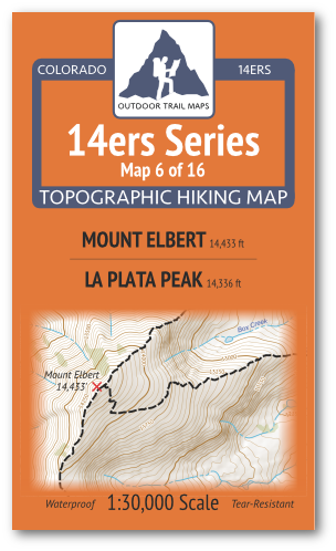 14ers Map 6 of 16 Cover
